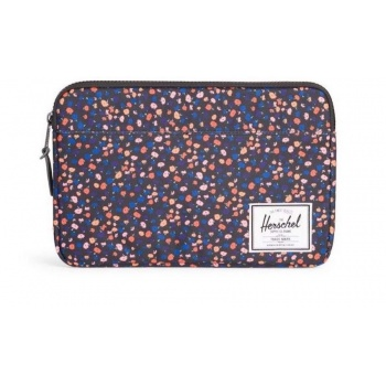 "Bolsa Sleeve Herschel Anchor 12"" - Black/Mini Floral"