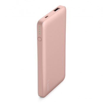 Power Bank 5000 mAh - Rosa Dourado