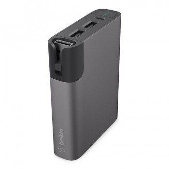 Power Bank 6600mAh + Lightning - Cinzento.