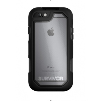 Capa Griffin Survivor Summit para iPhone 6/6s Plus - Preto/Transparente