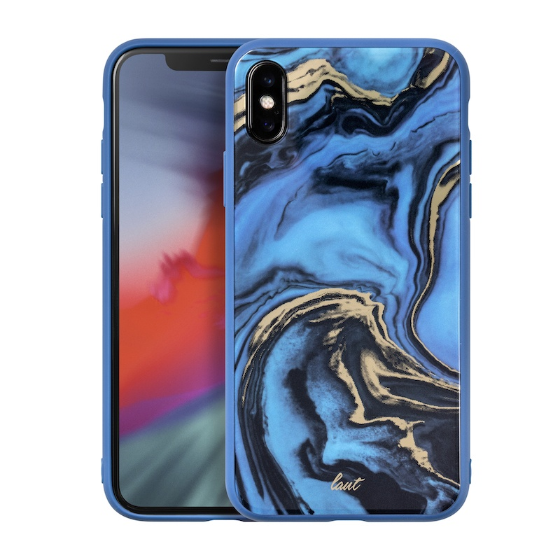 Capa Laut Mineral Glass para iPhone XS Max - Azul