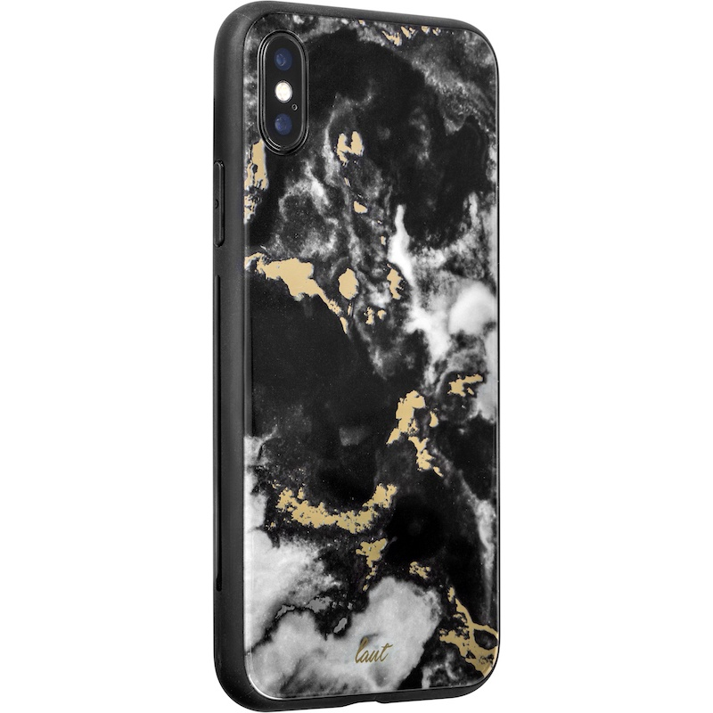 Capa Laut Mineral Glass para iPhone XS / X - Preto