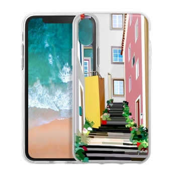 Capa iPhone X/XS Escadas de Lisboa, Saudade Series 2