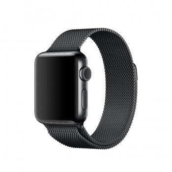 Bracelete para Apple Watch Milanesa em metal (38 mm) - Preto (Vitrine)