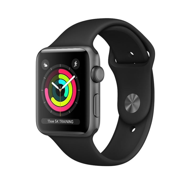 Apple Watch 3 GPS, 38mm aluminio cinzento, bracelete preta