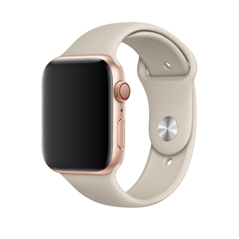 Bracelete desportiva para Apple Watch (44/42 mm) S/M & M/L - Cinzento-pedra