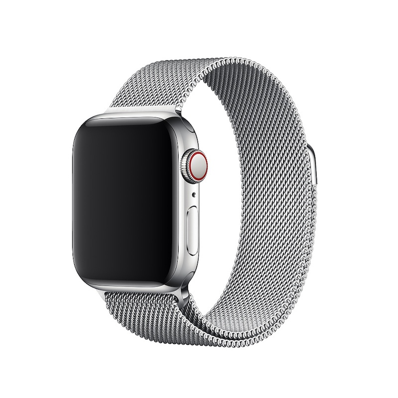 Bracelete para Apple Watch Milanesa em metal (40/38 mm) - Prateado