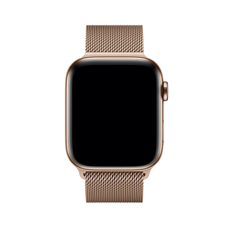 Bracelete para Apple Watch Milanesa em metal (44/42 mm) - Dourada