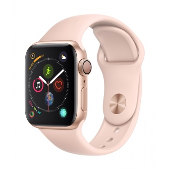 Apple Watch 4 GPS, 40 mm - Dourado com bracelete desportiva