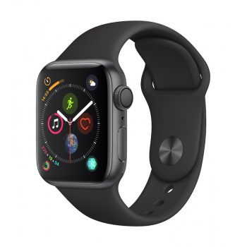 Apple Watch 4 GPS, 40 mm - Cinzento Sideral com bracelete desportiva