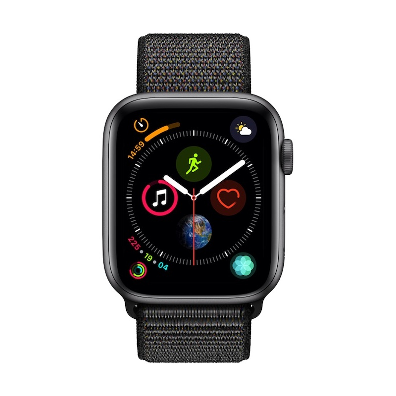 Apple Watch 4 GPS, 44 mm - Cinzento Sideral com bracelete desportiva Loop