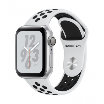Apple Watch 4 Nike+ GPS, 40 mm - Prateado bracelete desportiva Nike