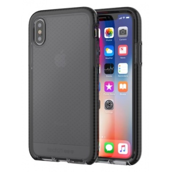 Capa iPhone X Tech21 Evo Check - Cinza escuro/Preto