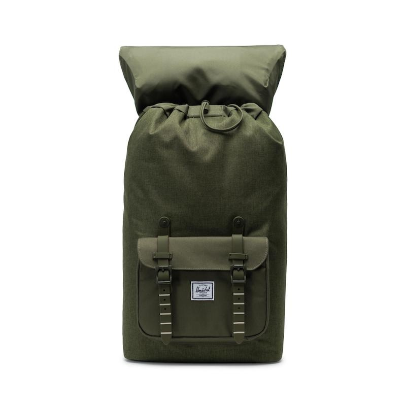Mochila Herschel Little America (25L) - Olive Night Crosshatch/Olive Night