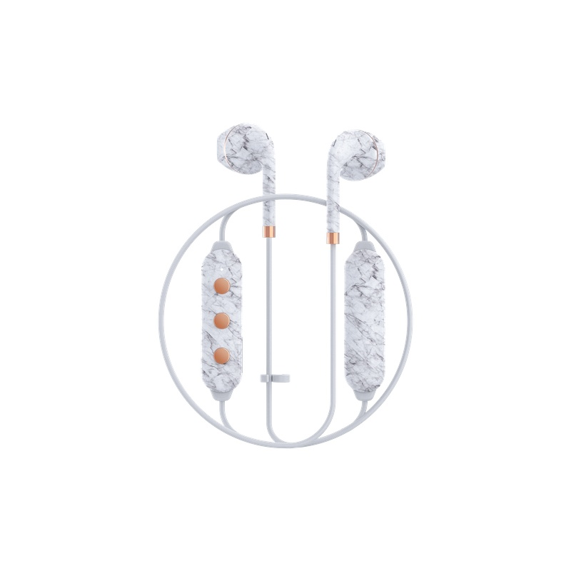 Auriculares Happy Plugs Wireless II - White Marble