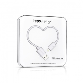 Cabo Happy Plugs Lightning para USB (2.0m) - Branco
