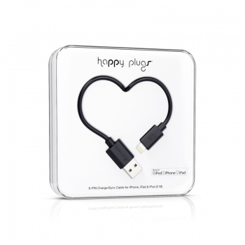 Cabo Happy Plugs Lightning para USB (2.0m) - Preto
