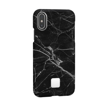 Capa para iPhone XS Happy Plugs - Black Marble